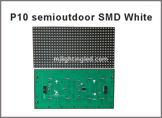 China 5V P10 SMD led module display Light white color 320*160  32*16pixels for semioutdoor advertising signage led dot matrix supplier