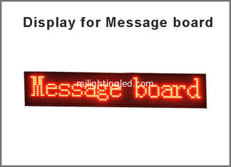 China P10 running Message board LED display panel red Semi outdoor 32*16pixels Advertising media billboard screen digital sign supplier