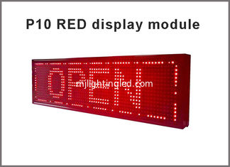 China P10 led display module led board 32*16 pixel led panel RED advertising board electronic led scoreboard moving sign supplier
