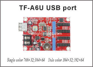 China TF-A6U USB led controller p10 display single & dual color control card 768*32,384*64 pixels support for led board supplier