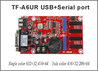 China TF-A6UR(TF-A5UR) single and dual color led message sign controller card for P10 display module programming controller supplier