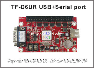 China TF-D6UR 1024*128dots large area RS232 and USB communication single&dual color LED Screen Control Card display controller supplier