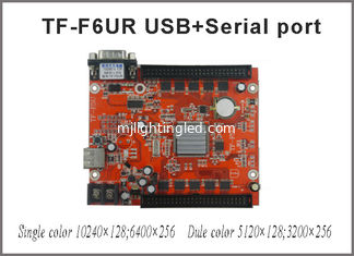 China TF-F6UR USB+serial port LED Control Card 10240*128pixels support Single, Double LED moving sign controller board supplier