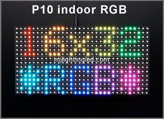 China P10 indoor RGB SMD LED Module 320*160mm 32*16pixels for full color LED display Scrolling message LED sign P10 Panel supplier