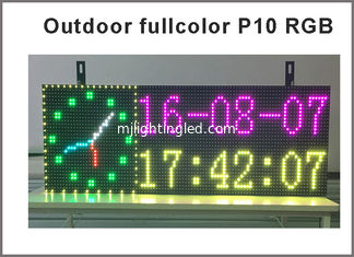 China Full color RGB Programmable Led Signs P10 smd Outdoor led Scrolling Message Display time temperature & date supplier