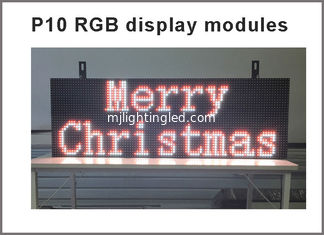 China P10 RGB led Scrolling display message board Outdoor full color LED display Support USB programmable for led sign supplier