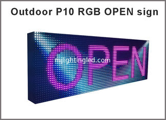 China Full Color High Brightness Waterproof Outdoor  SMD P10 LED Display 10mm pixel Outdoor LED Screen DIP P10 RGB led panel supplier