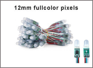 China 12MM 5V Fullcolor LED RGB Digital Pixel light round 1903IC string pixels lights T-1000S programmable advertising signs supplier