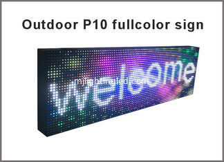 China Programmable outdoor fullcolor led sign P10 RGB outdoor displays Used for message advertising led screen board supplier
