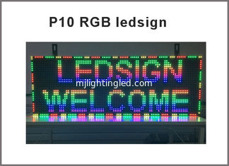 China P10 RGB LED Display Module Panel Window Sign Shop Sign P10 32X16 Matrix Programmable video display screen supplier