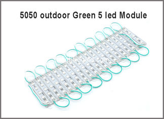 China 20PCS 5050 SMD 5LEDs LED Module Green Waterproof Light Advertising lamp DC 12V Wholesale supplier
