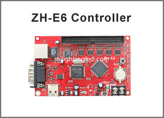 China ZH-E6 control card Network+USB+RS232 Port 256*2048 Pixels 1xpin50 Single & Dual color LED Display Controller Card supplier