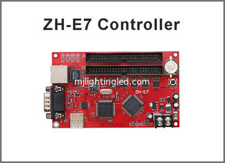 China ZH-E7 LED display control card Network+USB+RS232 Port 512*1024,128*4096 Pixels 2xpin50 Single & Dual color Controller supplier