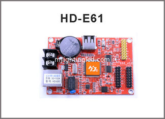 China HD-E61 network control card RJ45 +USB port Single and Double Color LED Display Module Control Card supplier