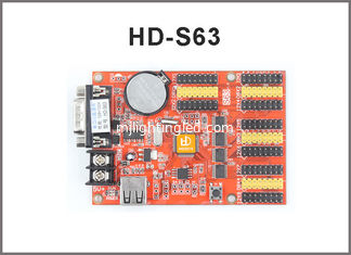 China HD-S63 Single and Duel color Seven-color LED Display Controller HD-U41 USB+RS232 Serial Port Communication for display supplier