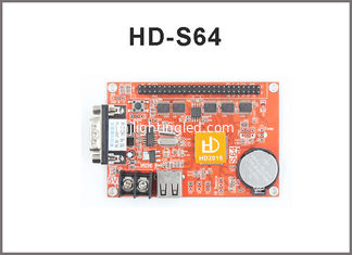 China HUIDU HD-X41 HD-S64 1*50PIN 1024*256 USB & Serial port LED control card for Single & Dual Color led display screen supplier