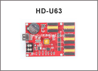 China HD-U40 HD-U63 LED display module USB control card, Single/Dual Color LED Big screen control card supplier