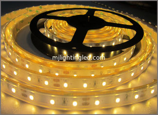 China 3528 strip led light 12VDC waterproof IP65 LED Flexible Lights for outdoor decoration Yellow color supplier