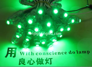 China 9mm LED Module String Light 5V Green Color Led Light 50pcs/String Waterproof IP67 for advertising letters supplier
