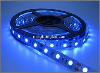 China Ribbon Led Tape Flexible Blue LED Light Strip IP20 12V 5050 SMD 60leds 300 LEDs 60leds/M Holiday Light supplier