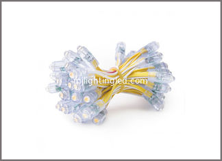 China 50 pcs/lot DC5V 9mm Yellow Led Module String Waterproof Digital point light IP68 LED Pixel Light supplier