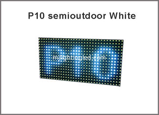 China Semi-Outdoor DIY LED Display P10 White Color LED Display Module  message display screen supplier