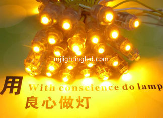 China 50pcs Yellow 9mm LED pixel Module DC5V Waterproof  Led Light Christmas Light supplier