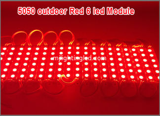 China 6 LED Module 5050SMD modules 12V waterproof Red Color led modules lighting supplier
