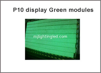 China Semi-outdoor 32X16 pixel dot 1/4 scan for led screen ,led p10 modules Green color p10 led panel supplier
