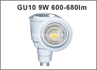 China High brightness 9W home lighting 600-680lm gu10 LED Spotlight bulb dimmable/nondimmable 50W haloge replacement supplier