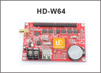 China Asynchronous led control system HD-W64 HD-W42 for single/dual/full color wifi+U-disk function led sign supplier