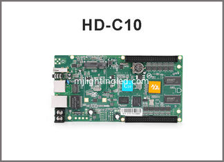 China HD-C10 rgb control system/ Asynchronous cascading controller/USB port full color controller supplier
