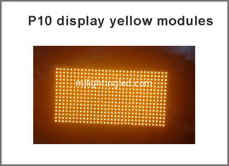 China P10 led matrix module light 320*160mm 32*16 yellow P10 display panel module for advertising board supplier