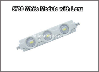 China 5730 waterproof led injuction module with lenz 3led modules 12V 1.2W led backlight supplier