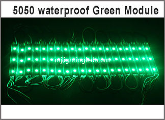 China 5050 monochrome backlit module light to 3led green color 12V Architectural lighting supplier