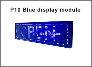 China LED P10 module,Single color LED display Scrolling message blue advertisement light supplier