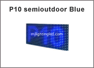 China 3Semioutdoor LED P10 display module,Single color blue LED display Scrolling message supplier