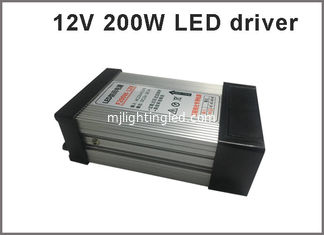 China 12V 200W Switching power supply rainproof LED drivers for outdoor led modules supplier