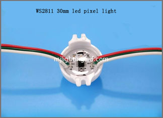 China 12V ws2811 30mm pixel strings 3pcs smd5050 point led light for programmable signs supplier