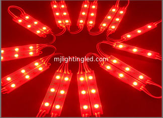 China 3 LED module 5050, 0.72W 12V, Red color, IP65 for Lettere luminose supplier