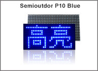 China 320*160mm 32*16pixels Semioutdoor high brightness Blue P10 LED module,Single color LED display Scrolling message factory