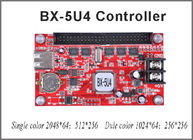 China BX-5U4 single/dual color control card Onbon LED USB port led controller 256*512 pixel for p10 led sign board painel led factory