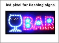 China 9mm 12mm 5VDC led pixel light used for LED flashing sign ultra Bright flashing bar led sign factory