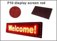 China led display screen board p10 single red Semioutdoor led moving sign 32*16 led dispaly module led advertising sign factory