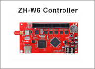 China ZH-W6 wifi led control system LED P10 Module wifi wireless led sign card, U disk drive board control card factory