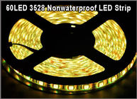 3528 Flexible led tape string Non-waterproof IP20 60led/m SMD LED string light Yellow color for Christmas decoration