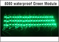 China DC12V SMD 5050 3LEDs LED Modules IP65 Waterproof Light Lamp 5050 Green High Quality Advertising Light factory
