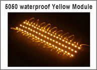 China 5050 3 LED Module light Yellow Waterproof IP67 DC12V,LED channel letter High Brightness factory
