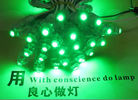 9mm LED dot String Light 5V Green Led Light 50pcs/String Waterproof IP67 for outdoor advertising letters