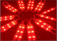 3 LED module 5050, 0.72W 12V, Red color, IP65 for Lettere luminose